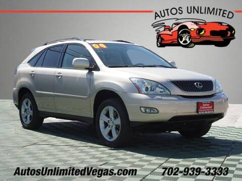 2004 Lexus RX 330 for sale at Autos Unlimited in Las Vegas NV