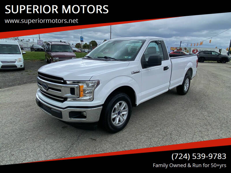 2019 Ford F-150 for sale at SUPERIOR MOTORS in Latrobe PA