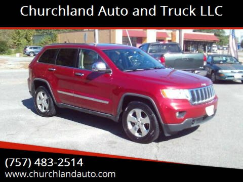 2011 Jeep Grand Cherokee for sale at Churchland Auto and Truck LLC in Portsmouth VA