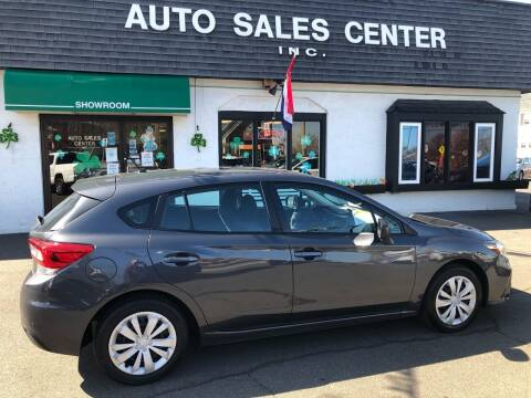 2018 Subaru Impreza for sale at Auto Sales Center Inc in Holyoke MA