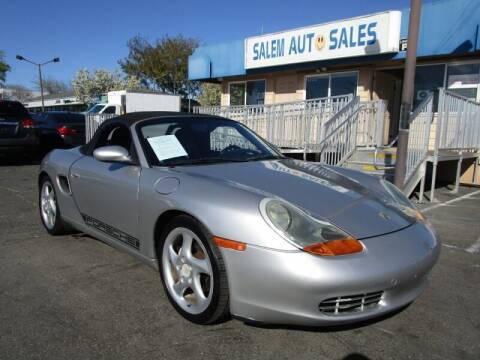 2002 Porsche Boxster for sale at Salem Auto Sales in Sacramento CA