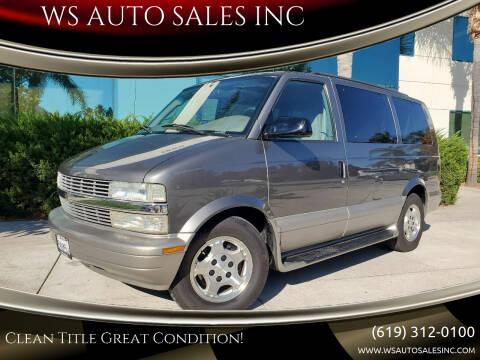 2005 Chevrolet Astro for sale at WS AUTO SALES INC in El Cajon CA