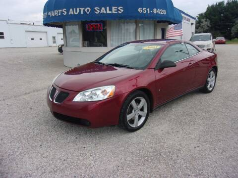 2008 Pontiac G6 for sale at Marty Hart's Auto Sales in Sturgis MI