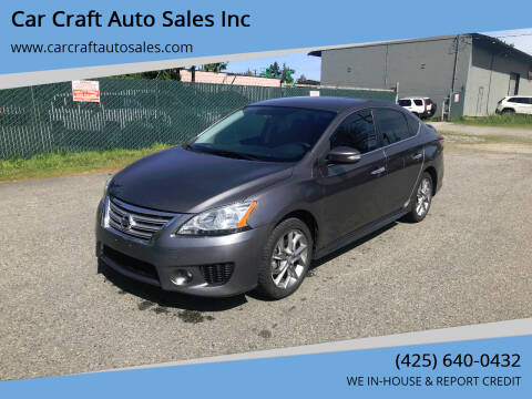 2015 Nissan Sentra for sale at Car Craft Auto Sales Inc in Lynnwood WA