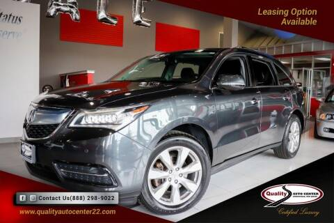 2014 Acura MDX for sale at Quality Auto Center of Springfield in Springfield NJ