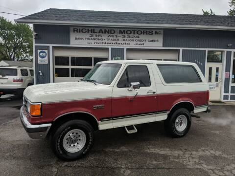 1991 Ford Bronco for sale at Richland Motors in Cleveland OH