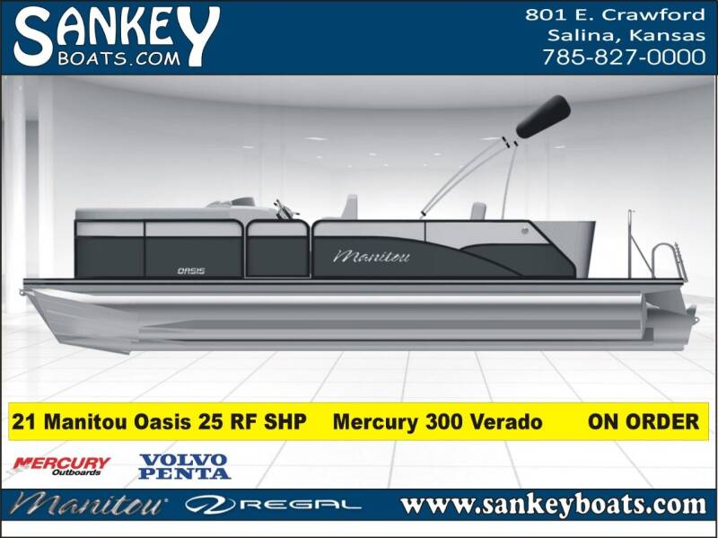 2021 Manitou Oasis 25 RF SHP for sale at SankeyBoats.com in Salina KS