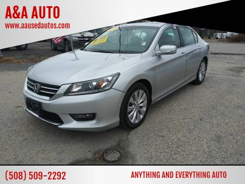 2014 Honda Accord for sale at A&A AUTO in Fairhaven MA