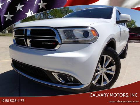 2016 Dodge Durango for sale at Calvary Motors, Inc. in Bixby OK