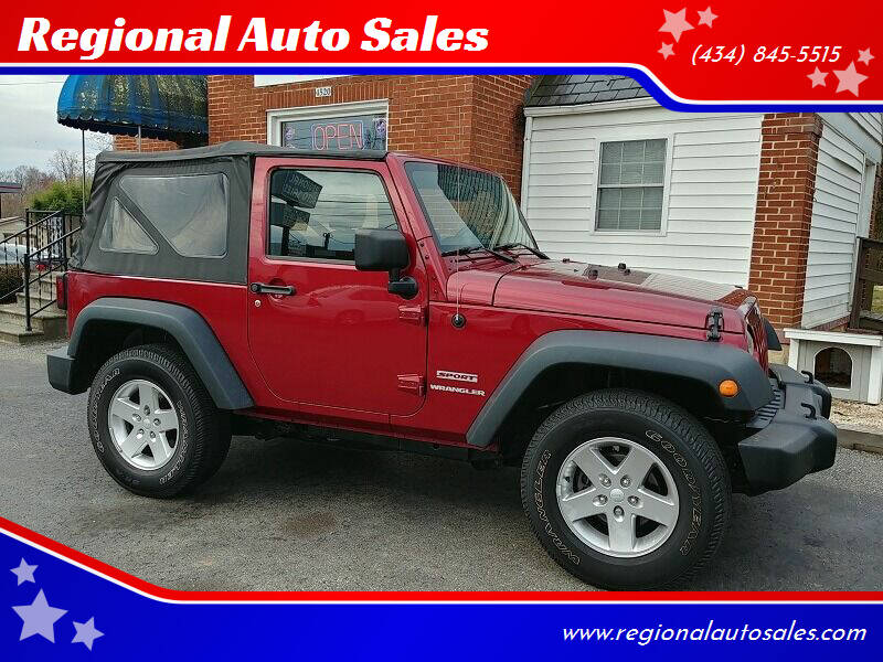 2013 Jeep Wrangler for sale at Regional Auto Sales in Madison Heights VA