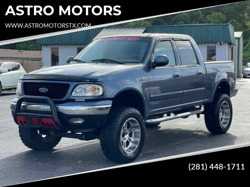 2002 Ford F-150 for sale at ASTRO MOTORS in Houston TX