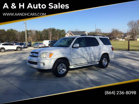2005 Toyota Sequoia for sale at A & H Auto Sales in Greenville SC