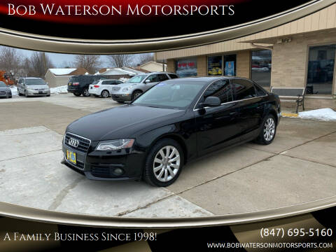 2009 Audi A4 for sale at Bob Waterson Motorsports in South Elgin IL