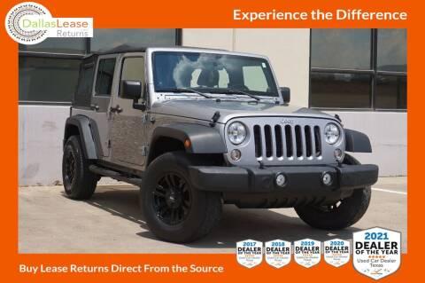 2014 Jeep Wrangler Unlimited for sale at Dallas Auto Finance in Dallas TX