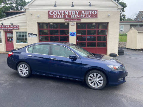 2013 Honda Accord for sale at COVENTRY AUTO SALES in Coventry CT