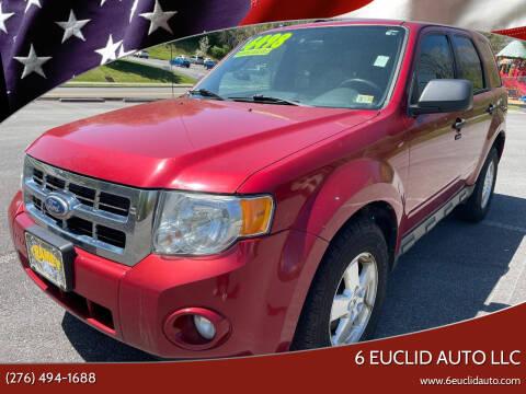 2012 Ford Escape for sale at 6 Euclid Auto LLC in Bristol VA
