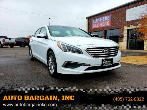 2017 Hyundai Sonata for sale at AUTO BARGAIN, INC. #2 in Oklahoma City OK