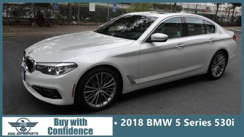 2018 BMW 5 Series for sale at ASAL AUTOSPORTS in Corona CA