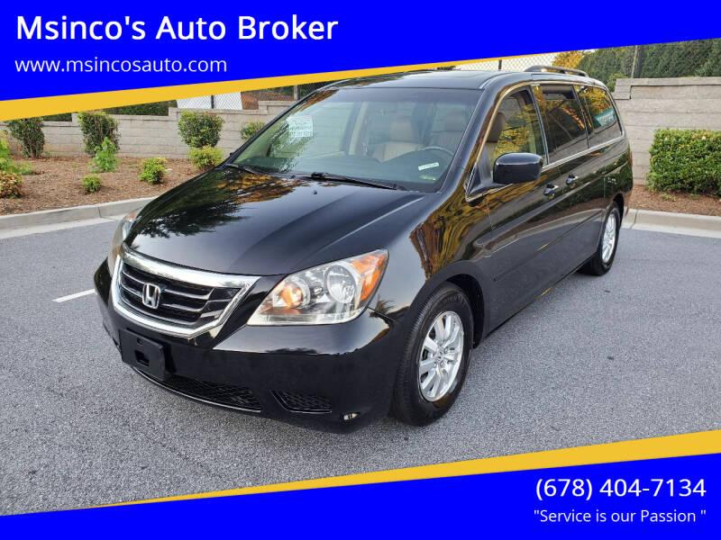 2009 Honda Odyssey for sale at Msinco's Auto Broker in Snellville GA
