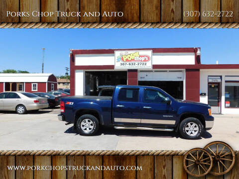 2010 GMC Sierra 1500 for sale at Porks Chop Truck and Auto in Cheyenne WY