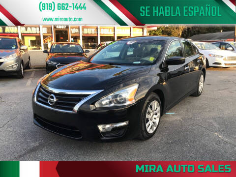 2015 Nissan Altima for sale at Mira Auto Sales in Raleigh NC