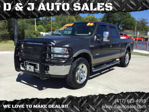 2006 Ford F-250 Super Duty for sale at D & J AUTO SALES in Joplin MO