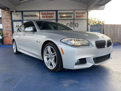 2012 BMW 5 Series for sale at ELITE AUTO WORLD in Fort Lauderdale FL