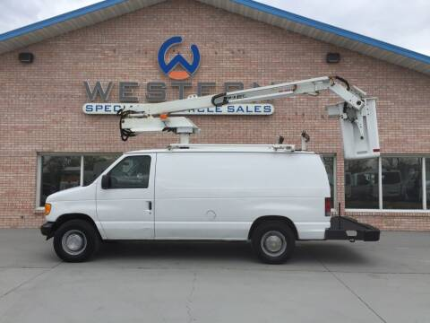 2003 Ford E350 Bucket Van for sale at Western Specialty Vehicle Sales in Braidwood IL