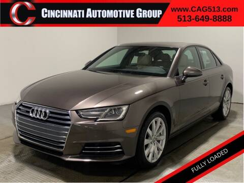 2017 Audi A4 for sale at Cincinnati Automotive Group in Lebanon OH