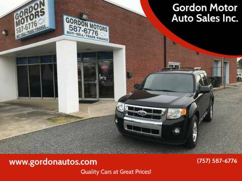 2010 Ford Escape for sale at Gordon Motor Auto Sales Inc. in Norfolk VA