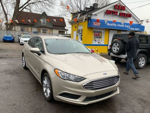 2017 Ford Fusion Hybrid for sale at C & M Auto Sales in Detroit MI