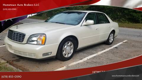 2001 Cadillac DeVille for sale at Hometown Auto Brokers LLC in Marietta GA