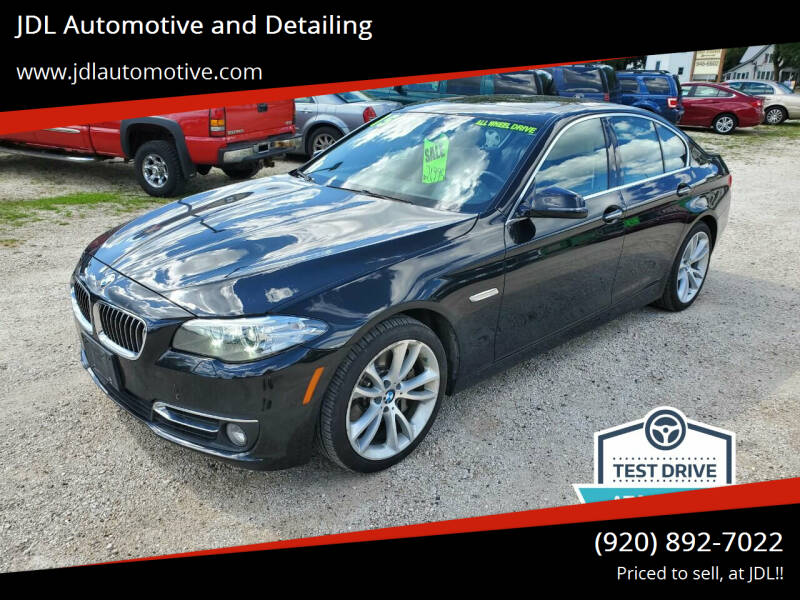2015 BMW 5 Series for sale at JDL Automotive and Detailing in Plymouth WI