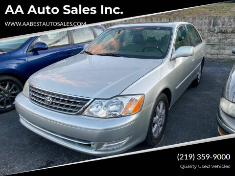 2003 Toyota Avalon for sale at AA Auto Sales Inc. in Gary IN