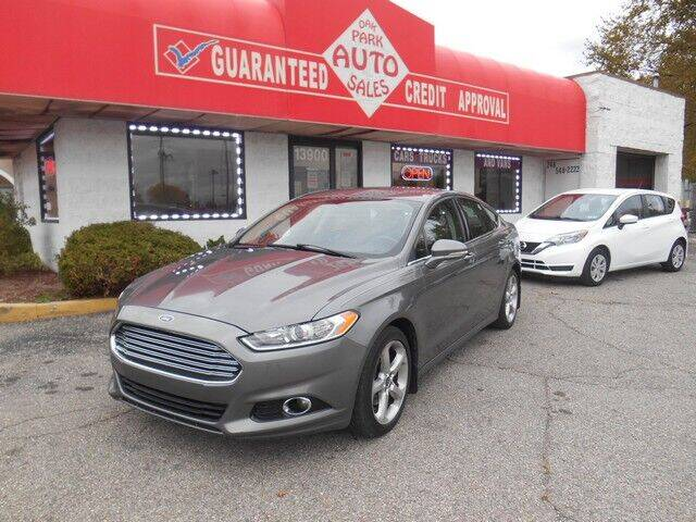 2014 Ford Fusion for sale at Oak Park Auto Sales in Oak Park MI