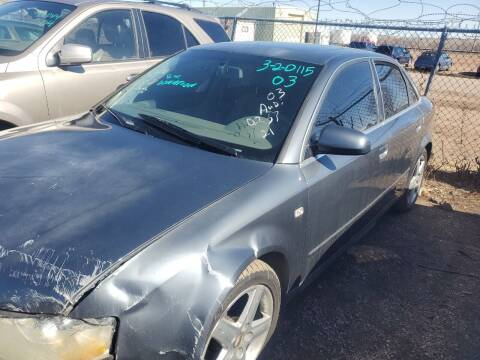 2003 Audi A4 for sale at PYRAMID MOTORS - Fountain Lot in Fountain CO
