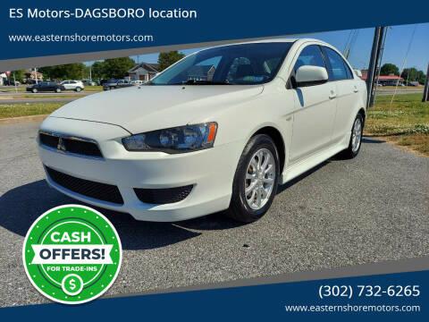 2012 Mitsubishi Lancer for sale at ES Motors-DAGSBORO location in Dagsboro DE