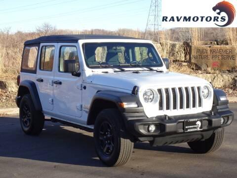2018 Jeep Wrangler Unlimited for sale at RAVMOTORS in Burnsville MN