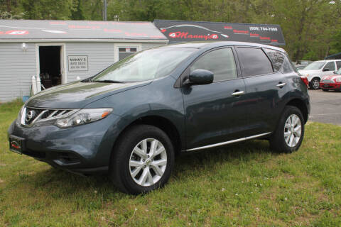 2012 Nissan Murano for sale at Manny's Auto Sales in Winslow NJ