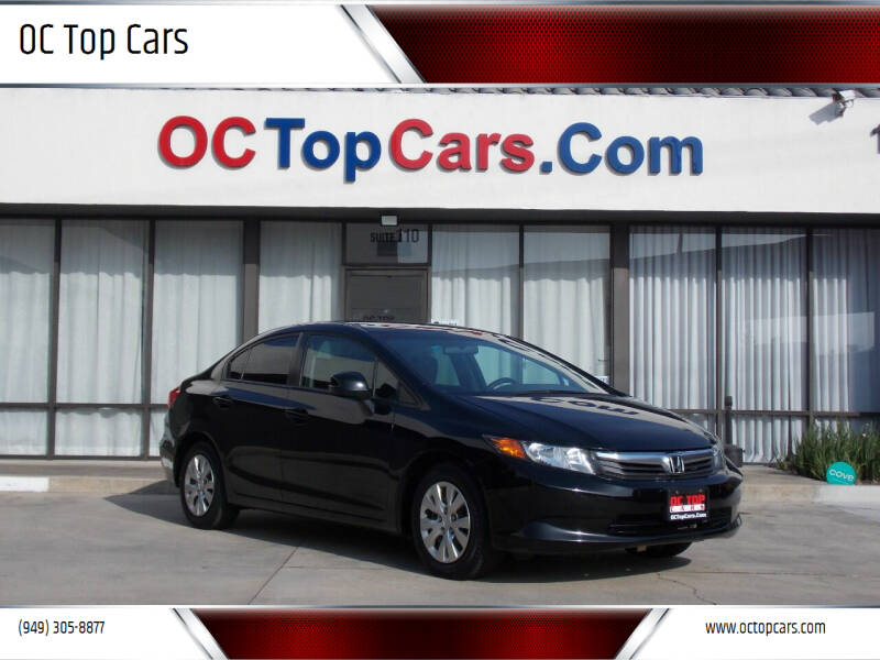 2012 Honda Civic for sale at OC Top Cars in Irvine CA