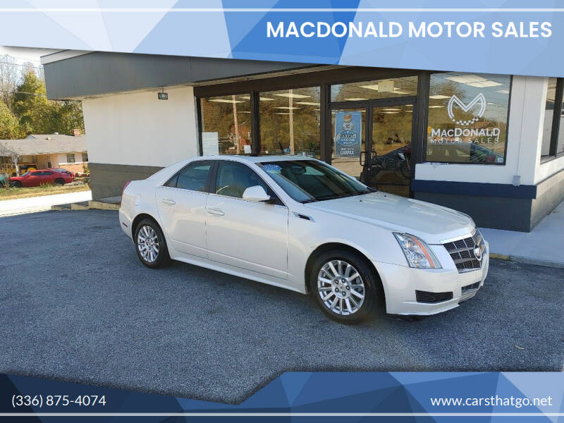 2011 Cadillac CTS for sale at MacDonald Motor Sales in High Point NC