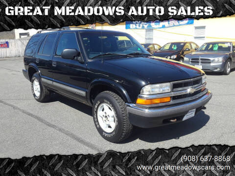 2000 Chevrolet Blazer for sale at GREAT MEADOWS AUTO SALES in Great Meadows NJ