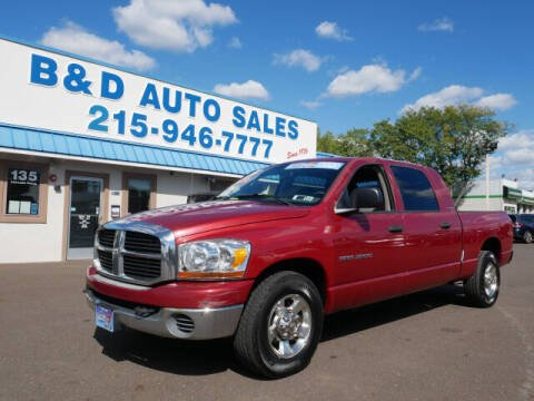 2006 Dodge Ram Pickup 2500 for sale at B & D Auto Sales Inc. in Fairless Hills PA
