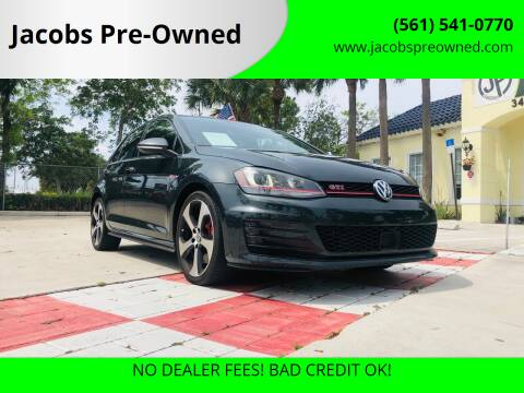 2017 Volkswagen Golf GTI for sale at Jacobs Pre-Owned in Lake Worth FL