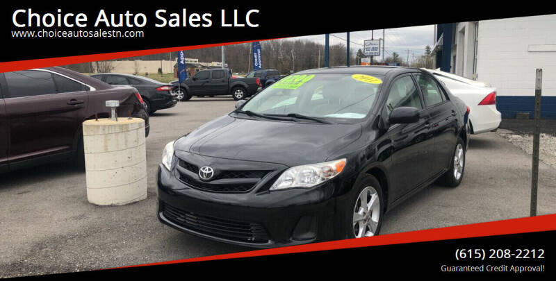 2011 Toyota Corolla for sale at Choice Auto Sales LLC - Cash Inventory in White House TN