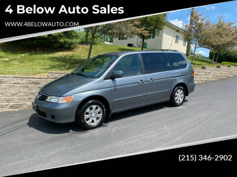 2002 Honda Odyssey for sale at 4 Below Auto Sales in Willow Grove PA