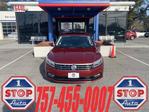 2018 Volkswagen Passat for sale at 1 Stop Auto in Norfolk VA