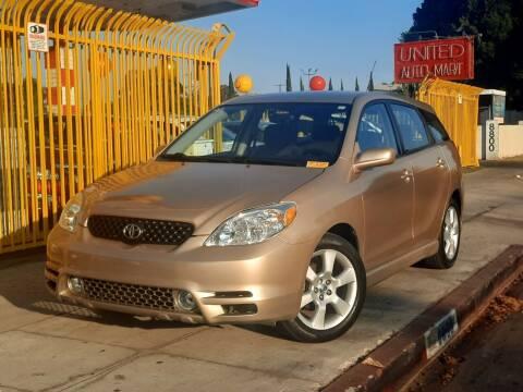 2003 Toyota Matrix for sale at UNITED AUTO MART CA in Arleta CA
