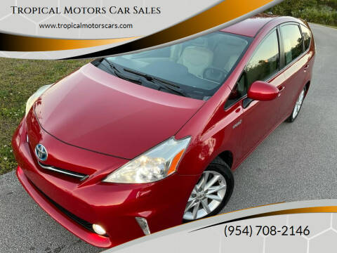 2012 Toyota Prius v for sale at Tropical Motors Car Sales in Deerfield Beach FL