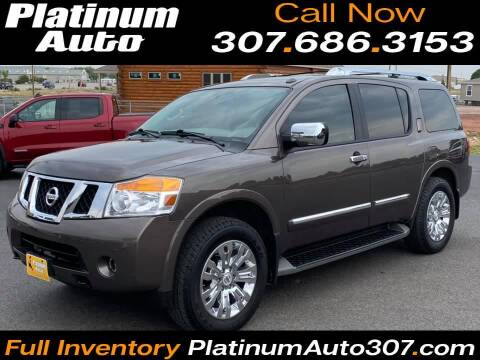 2015 Nissan Armada for sale at Platinum Auto in Gillette WY
